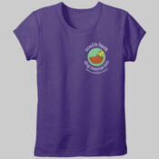 Ladies' fitted T-shirt (front logo)